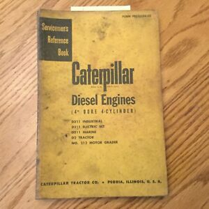 Cat Caterpillar D311 Diesel Engine Service Manual Servicemens Reference D2 212