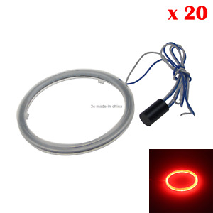 20x Red Auto Angel Eye Halo Rings Light Drl Blub 70mm 1 Emitters Cob Led Z20721