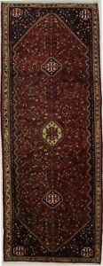 Excellent Handmade Tribal Abadeh Persian Runner Oriental Area Carpet 4x10
