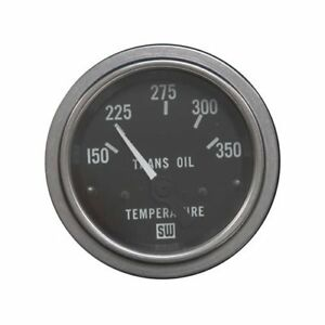 Stewart Warner Deluxe Series Electrical Transmission Temp Gauge 2 1 16 Dia