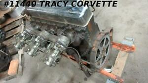 1954 Corvette 3835911 Used Rare 235 6 Cyl Tri Power Engine Assembly Dated B 9 4