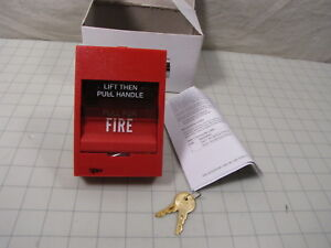 Est Siga 278 Dual Action Manual Pull Fire Alarm Station New