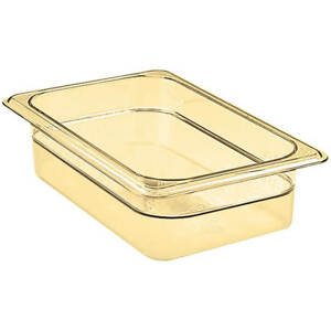Cambro 1 4 Gn Steam Table Pans High Heat Plastic 2 5 Deep 6pk Amber 42hp 150