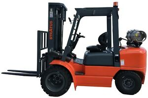 Stratus 6600 Lbs dual Fuel Forklift With Mitsubishi Engine Toyota Seats