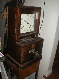 Old Bethlehem Steel Factory Time Punch Clock Allentown Pa