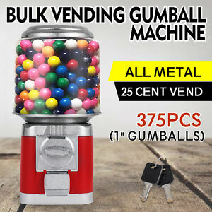 Bulk Vending Gumball Machine Polycarbonate Globe Countertop Treat Dispenser Bank