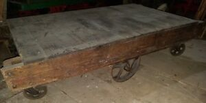 72 Antique Industrial Railroad Factory Cart Vtg 15 Available To Choose From