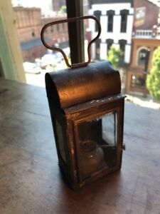 Early Primitive Tin Lantern 1800 S