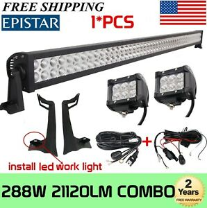 50 In 288w Led Bar Upper Roof Mounting Brackets For Jeep Wrangler Tj 1997 2006