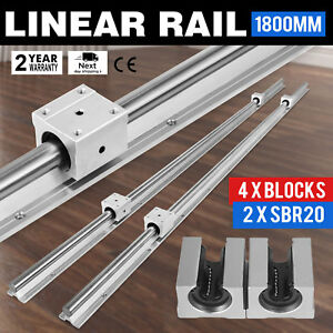 Sbr20 1800mm 2 X Linear Rail 4 X Bearing Blocks Mills Lathes Slide Guide Routers