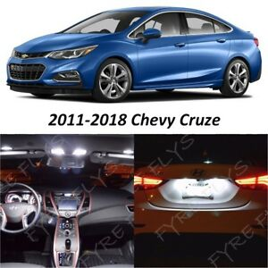 2011 2018 Chevy Cruze White Interior Map Dome Led Lights Package Kit tool Cc6w