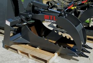 Mtl Extreme Quick Attach Skid Steer Stump Grapple Bucket W 1 Edge Ship 149