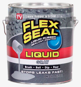 Flex Seal Lfsgryr01 Liquid Rubber Sealant Coating Gray Can 1 Gallon