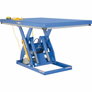 Vestil Hydraulic Lift Table 3 000 lb Cap 72inl X 48inw ehlt 4872 3 43