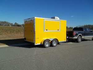 7 X 12 Enclosed Concession Trailer Vending Finished W Electrical And Sinks Pkg