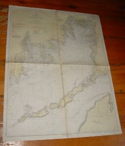 Old Working 1937 Nautical Chart Buzzards Bay Usc Gs