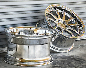 Aodhan Ds02 18x9 5 18x10 5 22 5x114 3 Vacuum Chrome Rims Fit Ford Mustang Sn 95