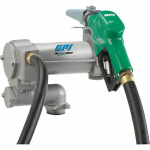 Gpi Fuel Transfer Pump With Automatic Nozzle 12v Dc 25 Gpm Model Ml 3025cb ad