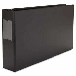 Universal Office Products 35423 Wide Base Round Ring Binder With Label Holder