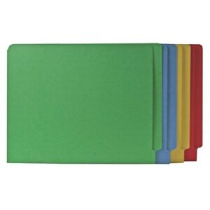 Smead 25013 Assortment End Tab Colored File Folders With Reinforced smd25013