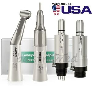 Nsk Style Dental Low Speed Straight air Motor contra Angle Handpiece 2 4 Holes