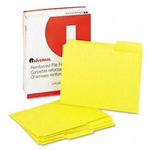 Universal Office Products 16164 Colored File Folders 1 3 Cut Assorted Two ply