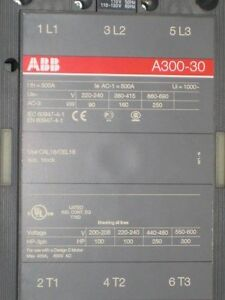Abb Contactor A300 30 500amp New Surplus b1