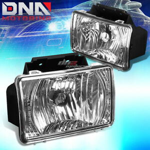 Chrome Clear Oe Bumper Fog Light Lamp Pair For 04 12 Chevy Colorado gmc Canyon