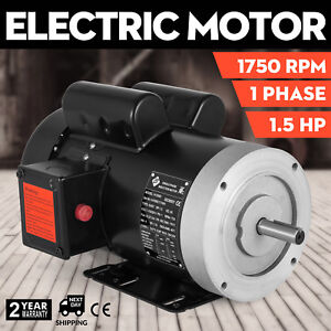 141556c Electric Motor 1 5hp 1phase 1750rpm 5 8 shaft Machinery Flange Outdoors