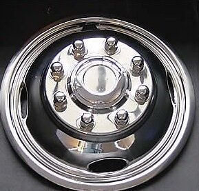 Ford F350 17 8 Lug Set Of 2 Polished Stainless Front Wheel Simulator Covers
