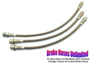 Stainless Brake Hose Set Hudson Deluxe Six Series 40p 10p 1940 1941