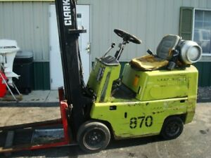 Clark Industrial Warehouse Forklift 3 000lbs Capacity Lp C500