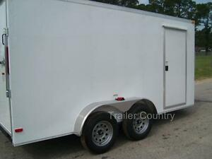 New 6x12 6 X 12 V nose Enclosed Cargo Trailer W Ramp New 2018