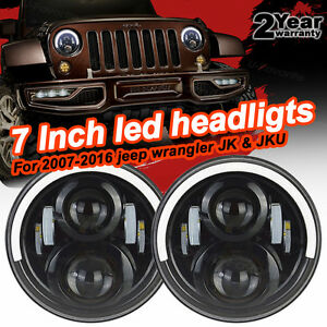 Firebug Jeep Wrangler 7 Inch Led Headlights Jeep Jk Hi lo Beam Headlights Drl