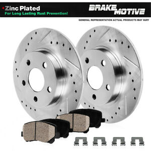 Rear Drilled Slotted Brake Rotors And Ceramic Pads For 1994 1998 Nissan 240sx