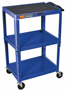 Offex Av Cart With 3 Shelves 40 25 H X 32 W X 24 D