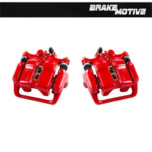 Rear Red Powder Coated Brake Calipers For 1999 2000 2001 Acura Rl