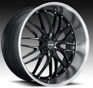 20 Mrr Gt1 Wheels For Lexus 350z 370z Staggered 20 Inch Black Rims Set Of 4