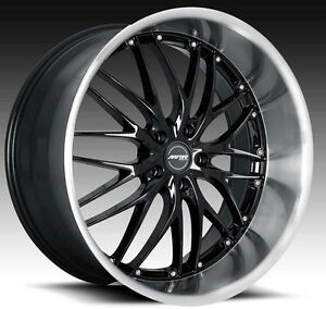20 Mrr Gt1 Black Wheels For Lexus Gs300 Gs400 Gs430 Staggered Deep Rims Set 4