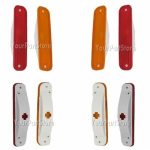 73 87 Chevy Gmc Pu Pickup Truck Dually Rear Fender Side Marker Lights Lamp Set 4