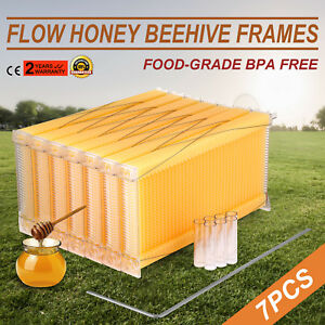 7pcs Automatic Flow Honey Beehive Frames Kit Raw Bee Hive Harvesting Food grade