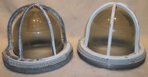 2 Vintage Ge Crouse hinds Large Explosion Proof Light Fixtures