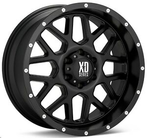 18 Inch Black Wheels Rims Chevy Silverado 2500 3500 1500hd Truck 8 Lug 4 Xd820
