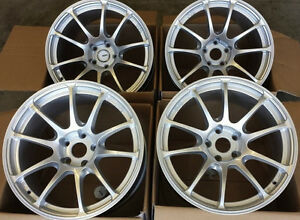 18 Miro 563 Wheels For Scion Frs Subaru Brz 18x9 5 Squared Silver Rims Set 4
