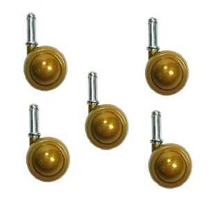 pack Of 5 Shepherd Satellite Swivel Stem Caster Metal Tread 7 16 Grip Ring