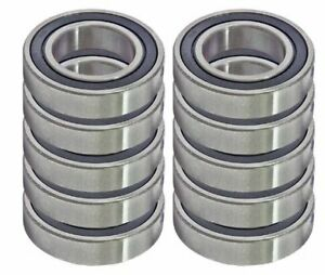 10 Chrome Precision Sealed Ball Bearings 20mm Id X 52mm Od X 15mm 6304