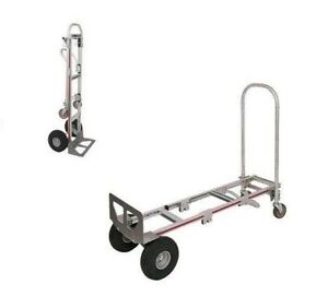 Magliner Gemini Convertible Sr Hand Truck 14 Nose 10 Air Tire 2 to 4 Wheel
