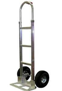 Aluminum Hand Truck With Single Grip Handle And 18 W Nose Plate Usa