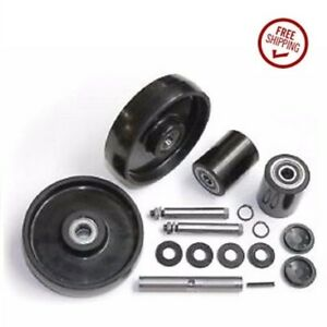 Lift rite L 50 Pallet Jack Wheel Kit complete includes All Parts Shown