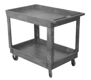 Wesco 24 X 36 Plastic Utility Service Cart With 5 Casters 500 Load Rating